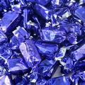 Blue Foiled Zaza Chews - Raspberry