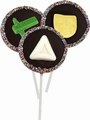 Purim Handmade Belgian Chocolate Pop - 3-Pack
