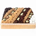 Nuts & Chocolate Line-Up Gift Basket