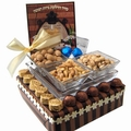 Israeli Hanukkah Chocolate & Nut Centerpiece