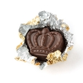 Non-Dairy Gold Foiled Apricot Brandy Crown Chocolate Truffles
