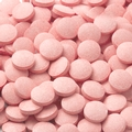 Light Pink Pucker Pieces Candy Tablets -  Sour Pink Lemonade