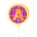 'A' Letter Hard Candy Lollipop