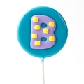'B' Letter Hard Candy Lollipop