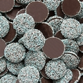 Baby Blue & White Dark Chocolate Nonpareils