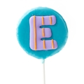 'E' Letter Hard Candy Lollipop