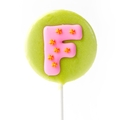 'F' Letter Hard Candy Lollipop
