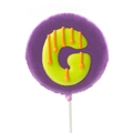 'G' Letter Hard Candy Lollipop