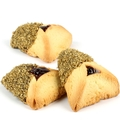 Gold Crystal Chocolate Dipped Hamantashen - 8CT Box