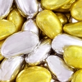 Gold & Silver Metallic Jordan Almonds - 8 oz Bag