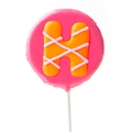 'H' Letter Hard Candy Lollipop