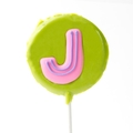 'J' Letter Hard Candy Lollipop