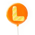 'L' Letter Hard Candy Lollipop