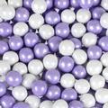 Lavender & White Shimmer Pearl Sixlets