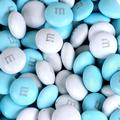 Light Blue & White M&M's Chocolate Candy