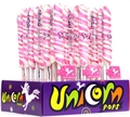 Light Pink & White Unicorn Pops - Bubble Gum