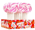 Light Pink & White Swirl Whirly Pops - Bubble Gum