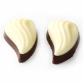 Non-Dairy Two Tone Chocolate Leaves