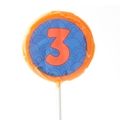 '3' Number Hard Candy Lollipop