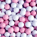 Light Pink & White Sixlets