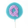 'Q' Letter Hard Candy Lollipop