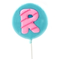 'R' Letter Hard Candy Lollipop