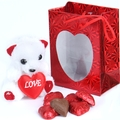 Milk Chocolate Sweetheart Gift Bag w/Teddy Bear