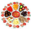 Rosh Hashanah Traditional Glass Tray