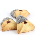 Silver Crystal Chocolate Dipped Hamantashen - 8CT Box