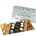 Rectangle Silver Glass Gift Tray