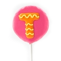 'T' Letter hard Candy Lollipop