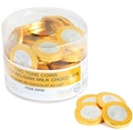 Nut-Free Two Tone Milk Chocolate Coins Tub - 70 Count