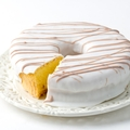Passover Lemon Bundt Cake in White Chocolate