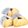 Pearl White Crystals Chocolate Dipped Hamantashen - 8CT Box
