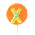 'X' Letter Hard Candy Lollipop