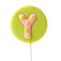 'Y' Letter Hard Candy Lollipop