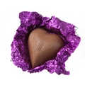 Purple Foiled Milk Chocolate Hearts