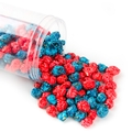 Navy Blue and Red Candy Coated Popcorn - Blueberry Cherry