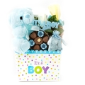 Baby Boy Teddy Bear Chocolate Basket