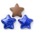 Foiled Chocolate Stars - Blue