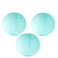 Robins Egg Paper Lanterns - 3CT