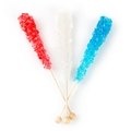 Patriotic Rock Candy Crystal Sticks