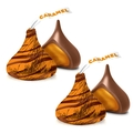 Hershey's Kisses Caramel Filled Milk Chocolate Candy 60-Pc. Bag