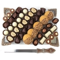 Rosh Hashanah Decorative Challah Board w/Knife Gift Set