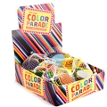 'Color Parade' Foiled Milk Chocolate Coins in Mesh Bags - 12 Piece Box