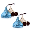 Blue Foiled Hershey's Kisses Cookies n' Creme Candy - 60-Pc. Bag