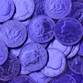 Blue Chocolate Coins - 1 LB Bag