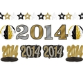 2014 Black, Gold & Silver Decorating Kit 10pc