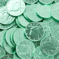 Green Chocolate Coins - 1 LB Bag