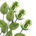 Non-Dairy Green Chocolate Roses - 12 Pack